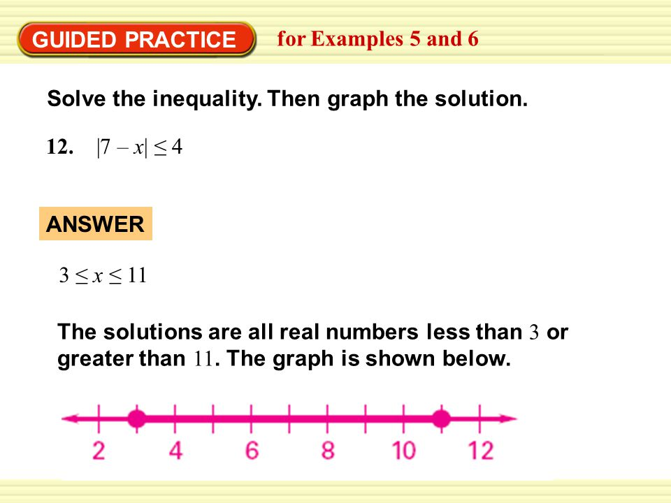 GUIDED PRACTICE for Examples 5 and 6 13.