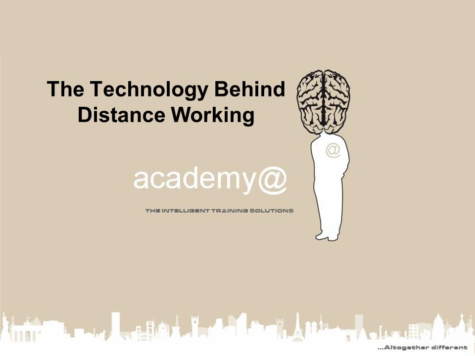 The Technology Behind Distance Working
