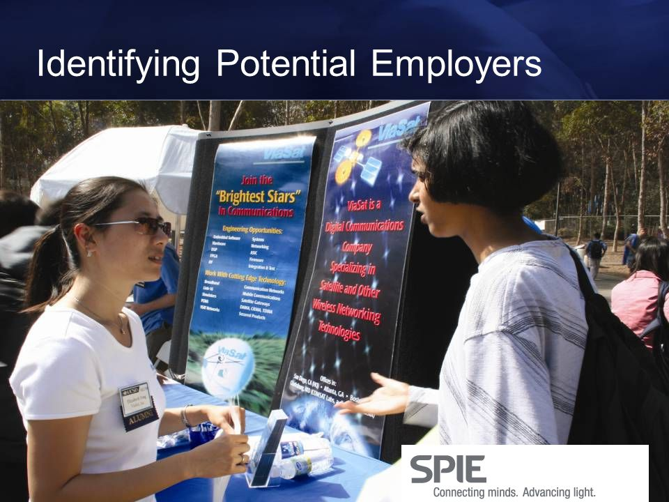 Identifying Potential Employers Vault Wetfeet Book of Lists Survey of Top College Employers UCSD Graduation Survey