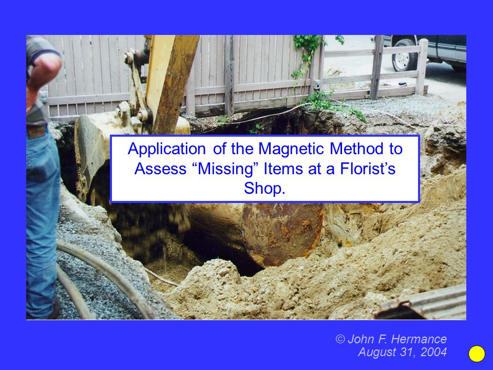 Application of the Magnetic Method to Assess Missing Items at a Florist's Shop.