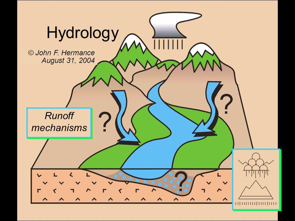 Runoff mechanisms Hydrology © John F. Hermance August 31, 2004