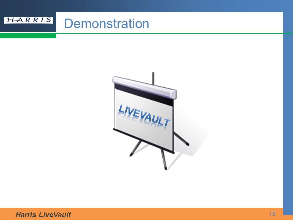 Harris LiveVault 15 Demonstration