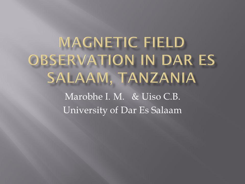 Marobhe I. M. & Uiso C.B. University of Dar Es Salaam