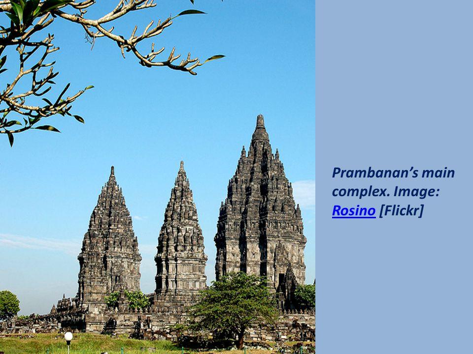 Six of Prambanan's eight main shrines. Image: kashikar [Flickr]