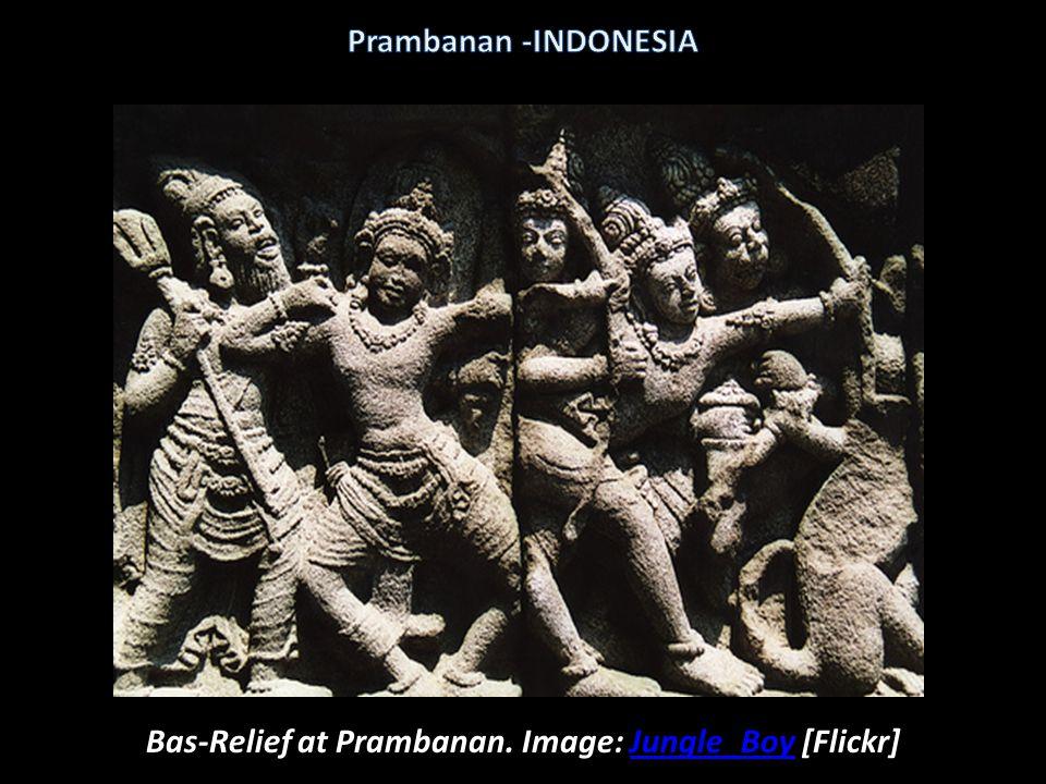 Prambanan at night. Image: Tierecke [Flickr] Prambanan-INDONESIA