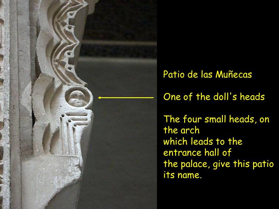 Seville - Patio de las Muñecas the intimate area in the Palace of D. Pedro.