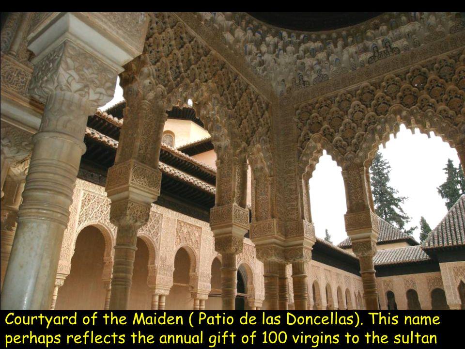 Alhambra -Vault at the Hall of Ambassadors ( Salon de los Embajadores ) in the Torre de Comares