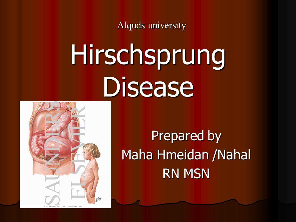 Prepared by Maha Hmeidan /Nahal RN MSN Hirschsprung Disease Alquds university