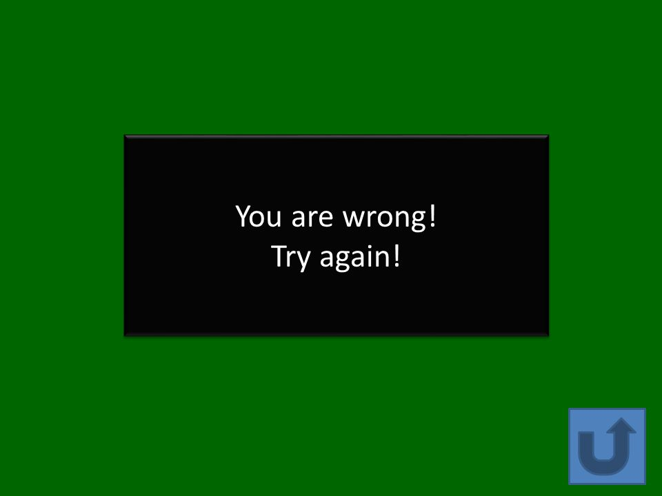 You are wrong! Try again! You are wrong! Try again!