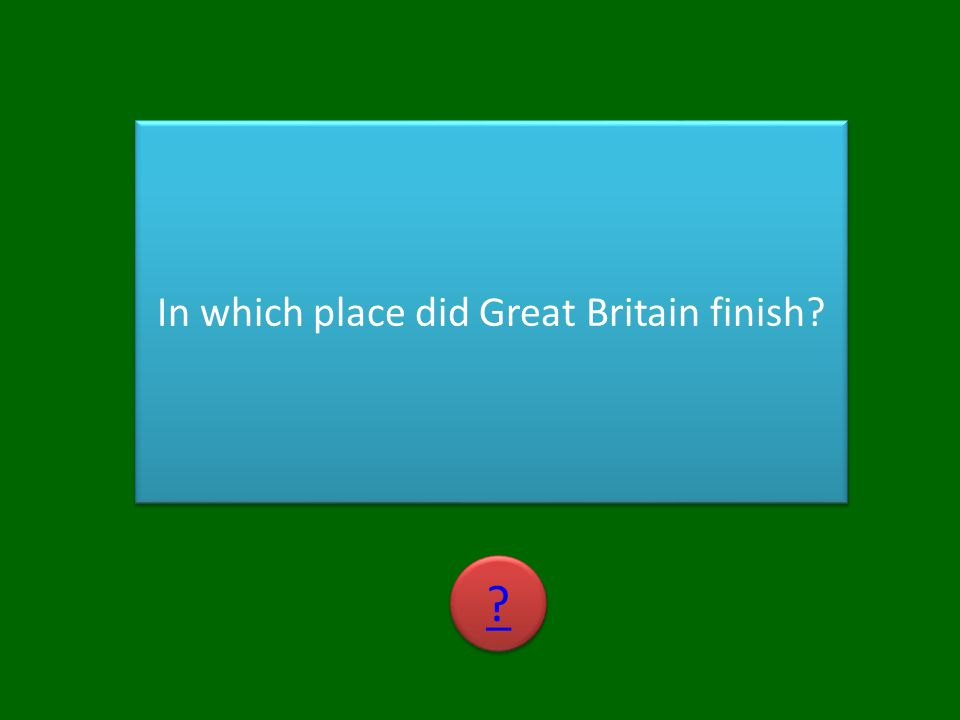 In which place did Great Britain finish