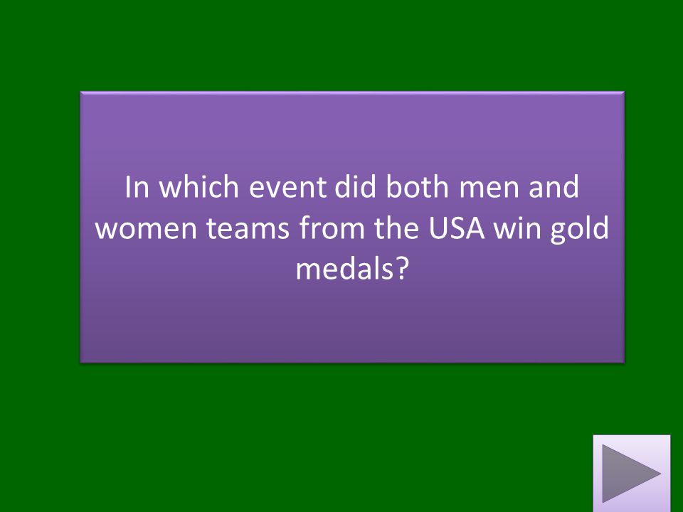 In which event did both men and women teams from the USA win gold medals