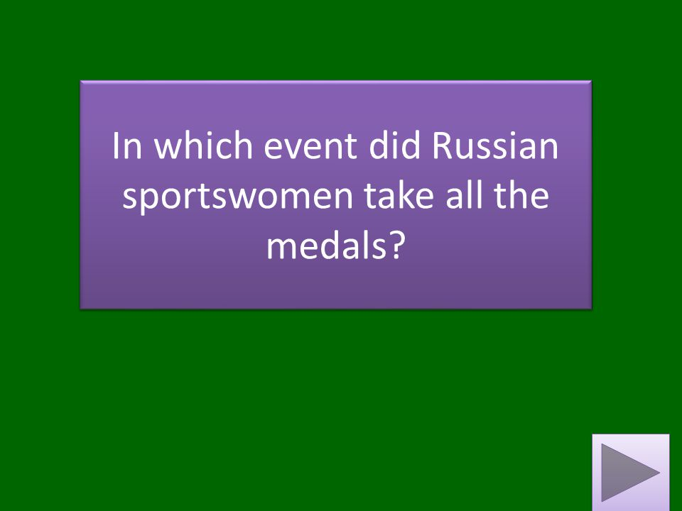 In which event did Russian sportswomen take all the medals