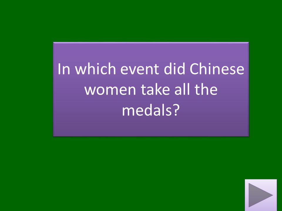 In which event did Chinese women take all the medals