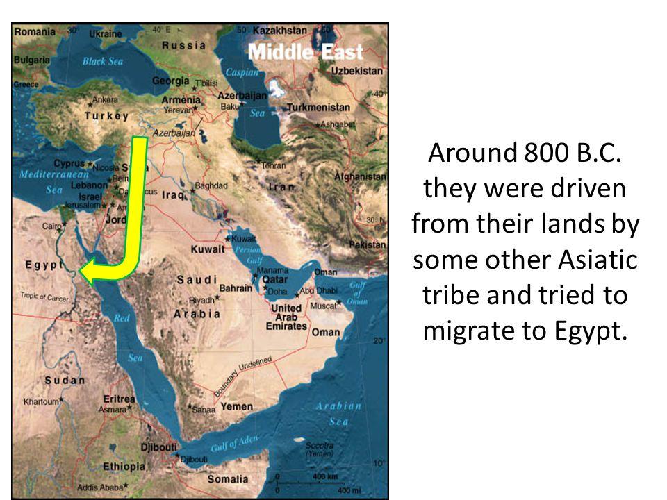 Around 800 B.C.
