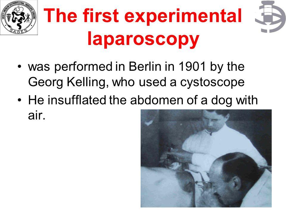 The Pioneers 5 Jacobaeus of Sweden presented his series of patients who had laparoscopy in 1910 (published a series of over 100 laparoscopy and thoracoscopy(LAPAROSCOPY).