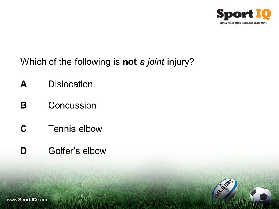 Which of the following is not a joint injury.