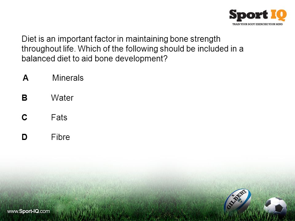 Diet is an important factor in maintaining bone strength throughout life.