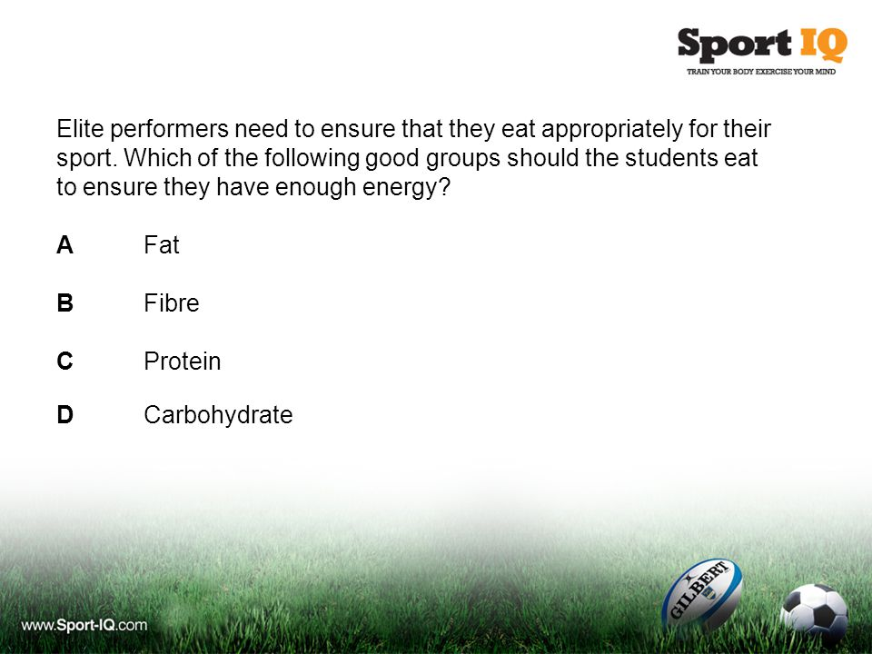 Elite performers need to ensure that they eat appropriately for their sport.