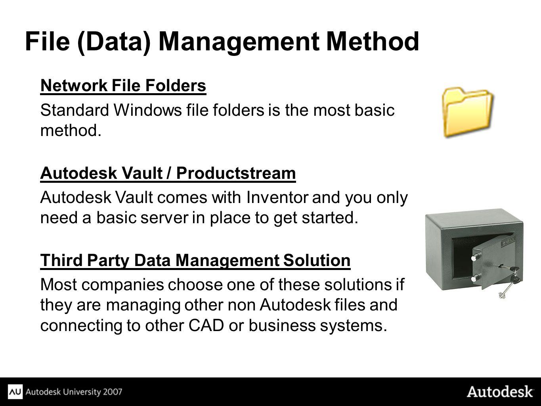 Network File Folders Standard Windows file folders is the most basic method.
