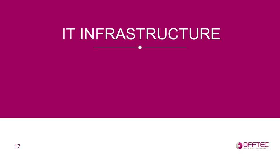 IT INFRASTRUCTURE 17