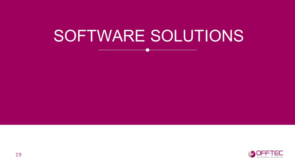 SOFTWARE SOLUTIONS 19