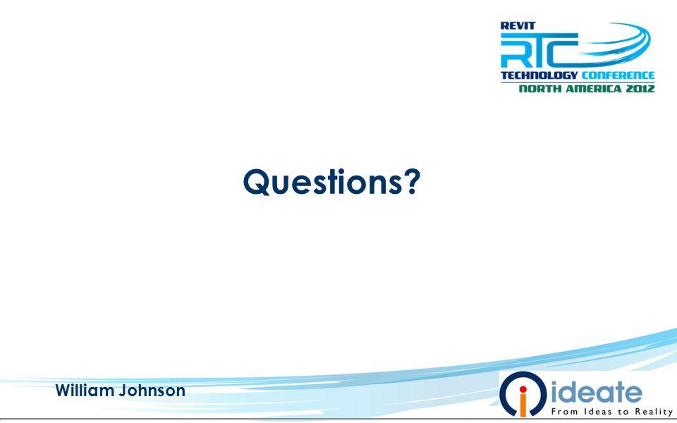 Questions William Johnson