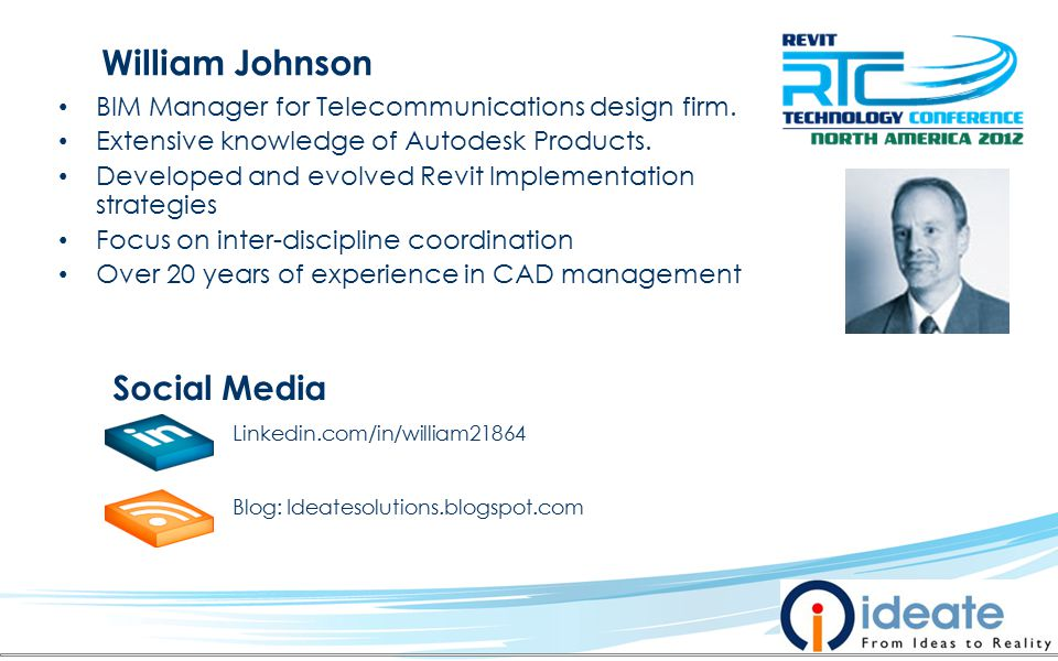 BIM Manager for Telecommunications design firm. Extensive knowledge of Autodesk Products.