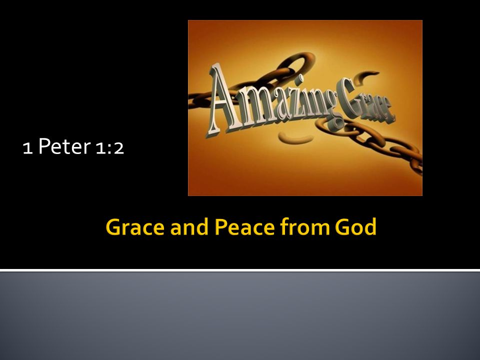 Grace understood is a powerful presence in our lives.