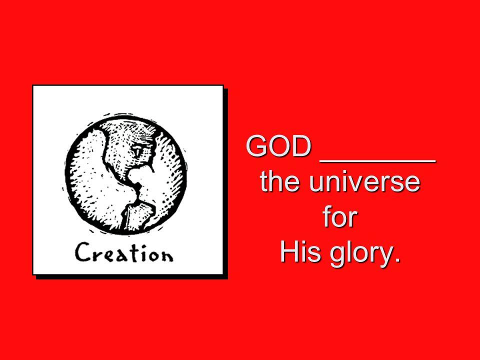 GOD GLORIFIES people who glorify Him. Revelation