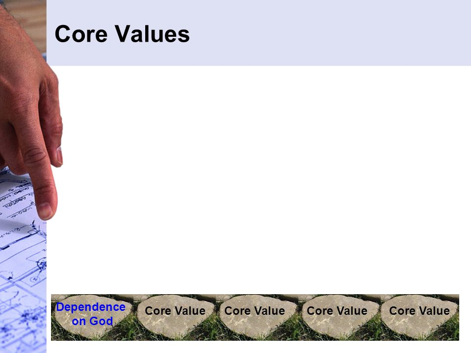 Core Values Dependence on God Core Value