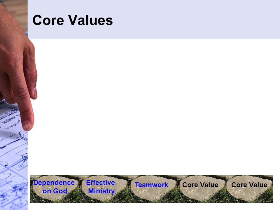 Core Values Dependence on God Effective Ministry TeamworkCore Value