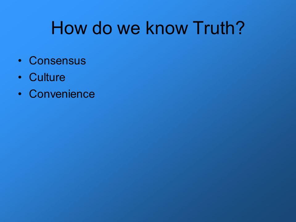 Consensus Culture Convenience