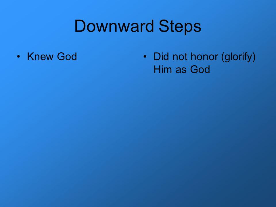 Downward Steps Knew GodDid not honor (glorify) Him as God