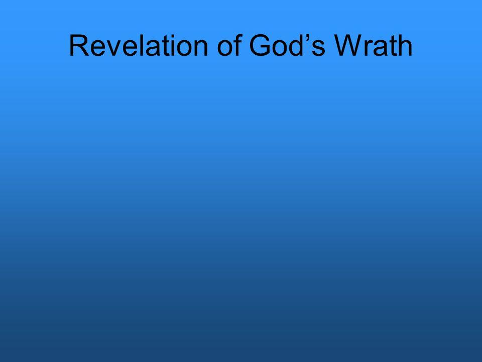 Revelation of God's Wrath