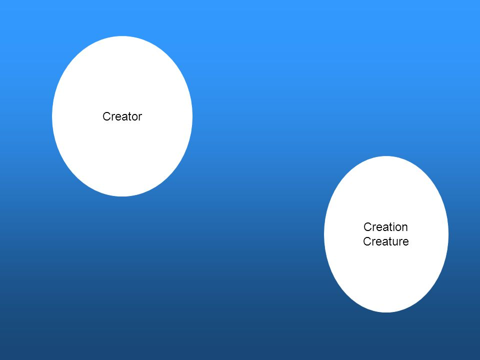 Creator Creation Creature