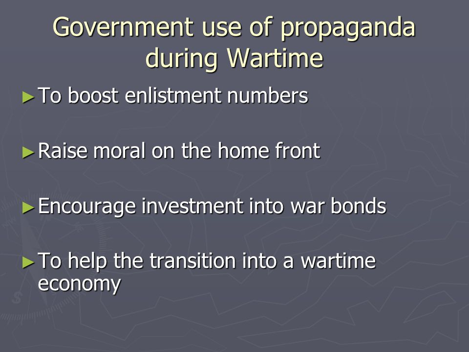 Practices of Propaganda II ► Subtle features: Features such as shading, color, font size, etc.
