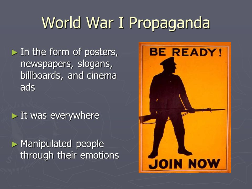 Crucial Point of Propaganda ► Bombing of Pearl Harbor ► American became involved ► Changed outcome of WWII entirely ► Constantly referred to for justification ► 1942
