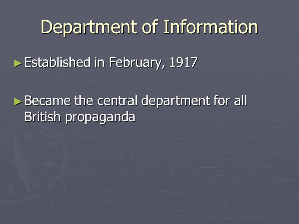 Common British Propaganda ► Much British propaganda focused on demonizing the enemy.