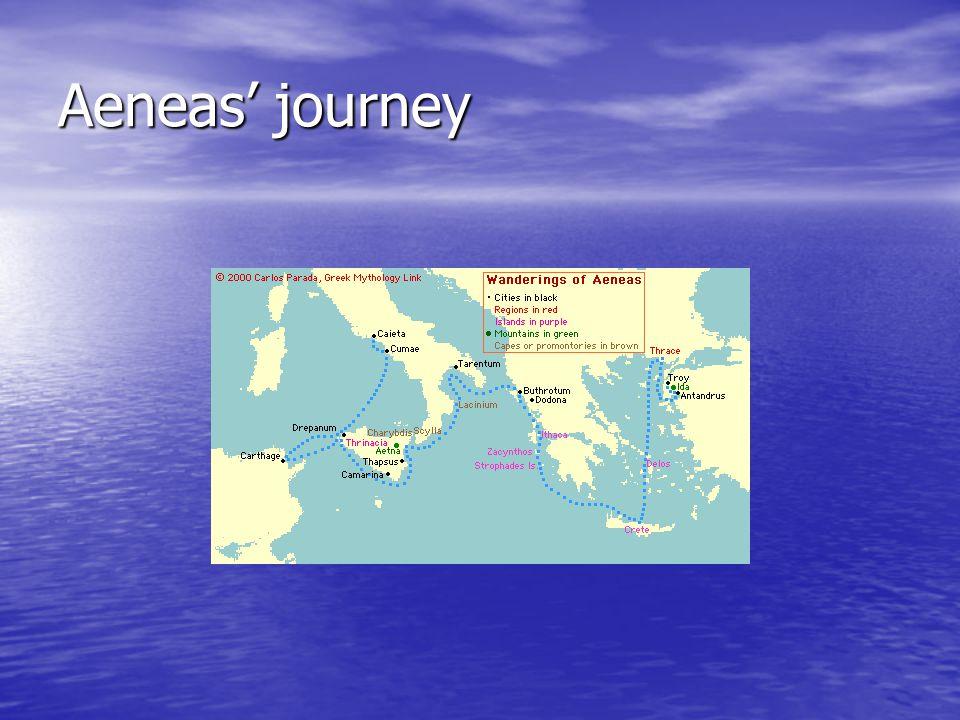 Aeneas' journey