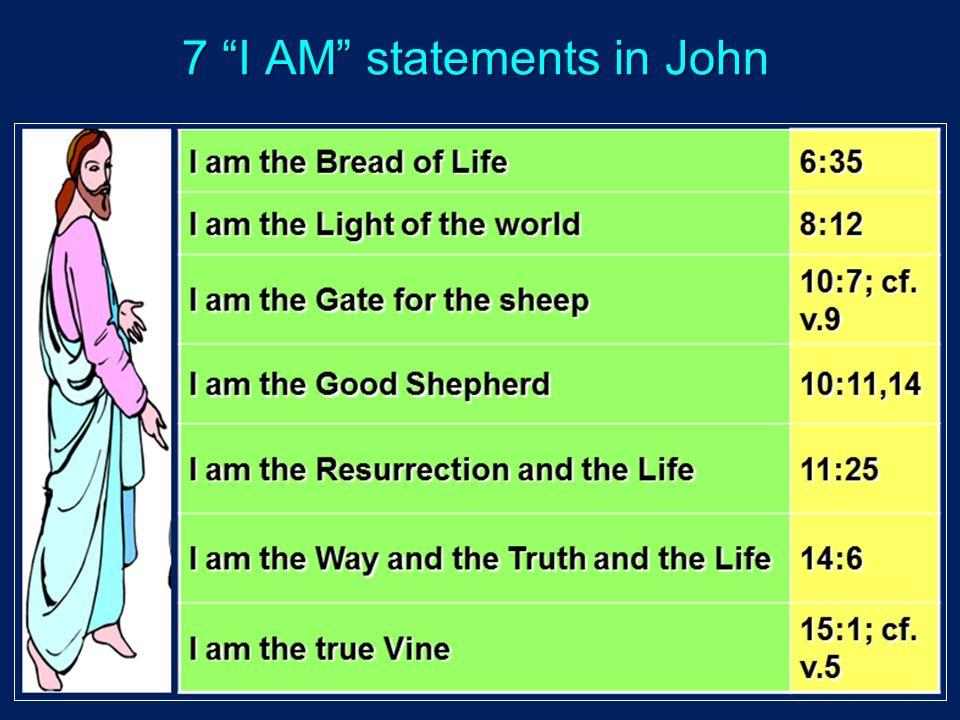 7 I AM statements in John