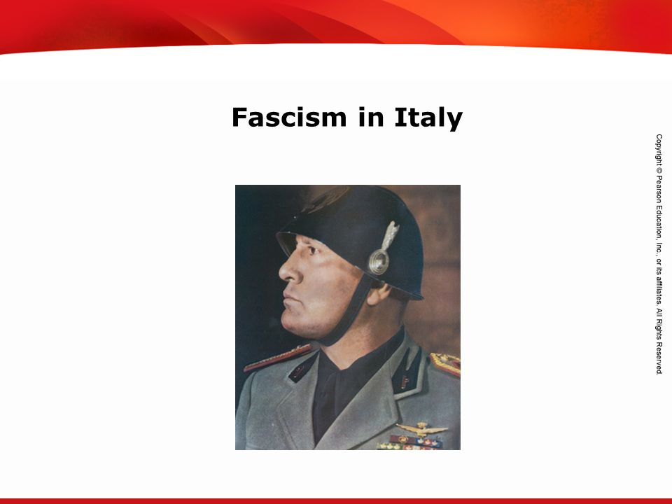 TEKS 8C: Calculate percent composition and empirical and molecular formulas. Fascism in Italy