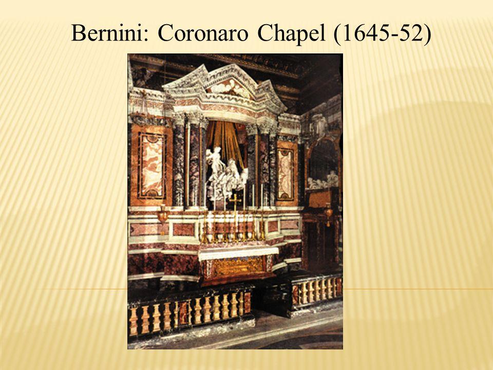 Bernini: Coronaro Chapel (1645-52)