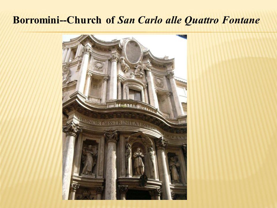 Borromini--Church of San Carlo alle Quattro Fontane