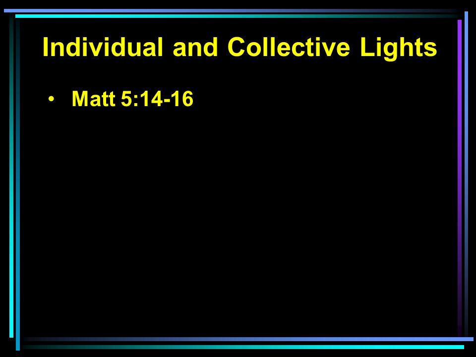 Matt 5:14-16