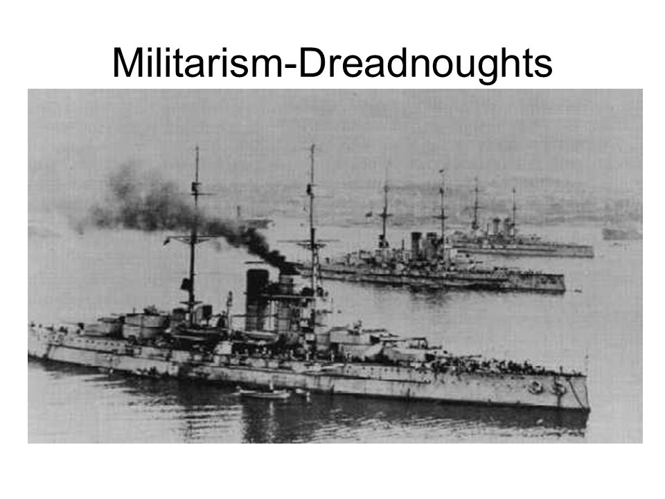 Arms Race and the First World War: Navies - 5 In the end, Britain's built many more Dreadnoughts than Germany.