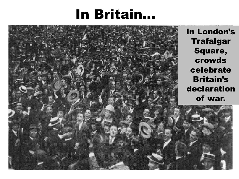 All able bodied men were expected to fight. Conscientious objectors were treated as criminals. They were humiliated by the general public.