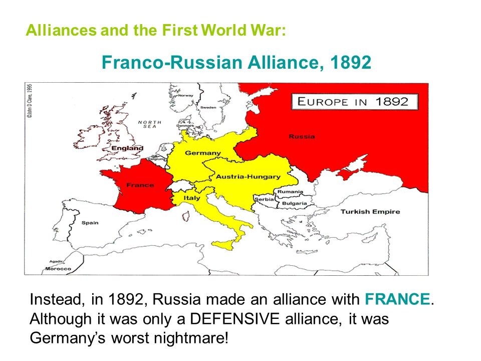Alliances and the First World War: Germany encircled But when Kaiser Wilhelm II became Emperor, he dumped the Russian alliance. He kept the Triple All
