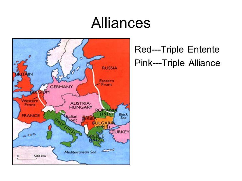 Leaders Triple Alliance Kaiser Wilhelm II (Germany) Franz Joseph I (Austria-Hungary) Vittorio Orlando (Italy) Triple Entente David Lloyd George (Engla