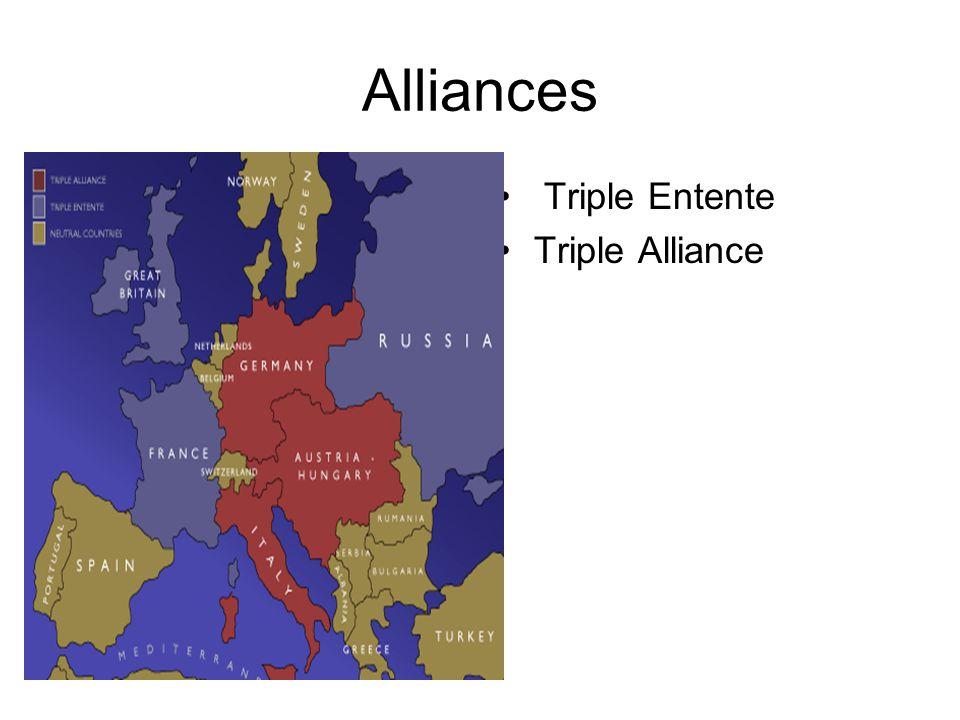 Alliances Red---Triple Entente Pink---Triple Alliance