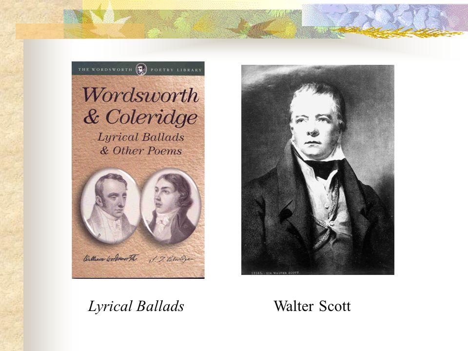 Lyrical Ballads Walter Scott